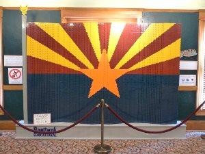 Arizona-Flagge aus Lego